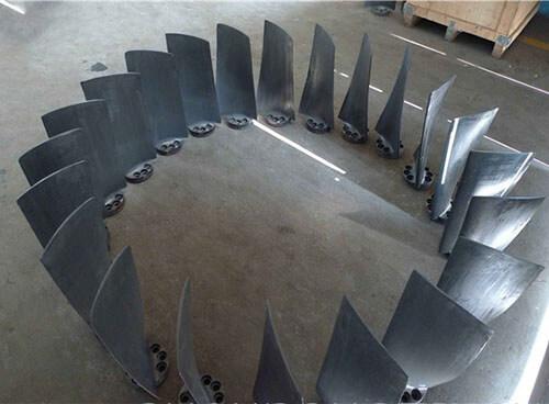 济南天盟排粉机叶轮耐磨涂层喷焊
