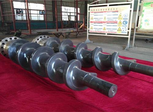 制浆设备螺旋轴超音速喷涂修复