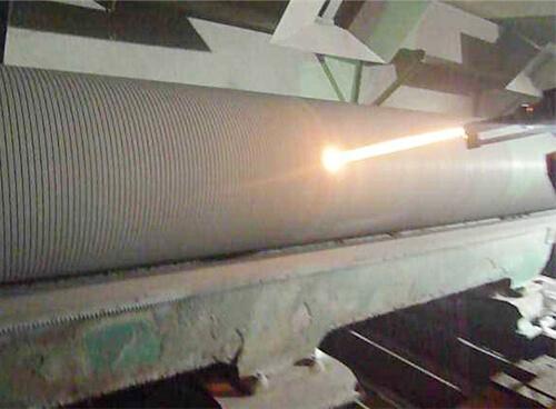 复卷机轴采用超音速热喷涂碳化钨