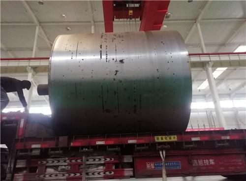 莱州某特种纸公司烘缸到厂进行热喷涂加工
